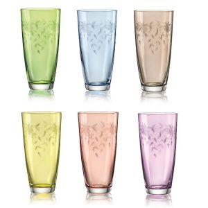 FLORAL Set 6 pahare cristalin apa 350 ml