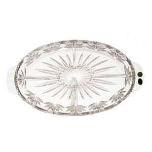 Platou cristal Bohemia compartimentat 40 cm