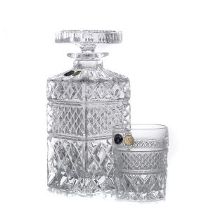 MADISON Set 6 pahare si decantor cristal Bohemia whisky