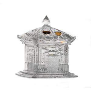 """Bomboniera cristal Bohemia """"Pagoda"""" 19 cm"""