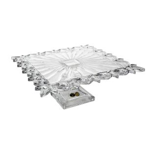 Platou tort cristal cu picior 32 cm