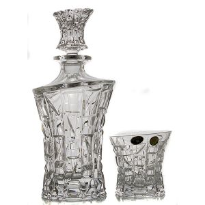 PATRIOT Set 6 pahare si decantor cristal whisky