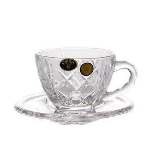 Serviciu cafea cristal 6 persoane (12 piese)