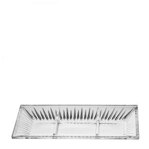 Platou cristal compartimentat 34 cm