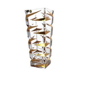 ZIG ZAG Vaza cristal decor aur 33 cm