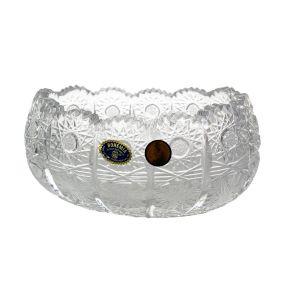 Bol cristal lucrat manual 15 cm
