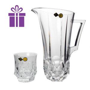 SOHO Set 6 pahare si carafa cristal Bohemia vin