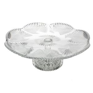 Platou cristal Bohemia cu picior 40 cm