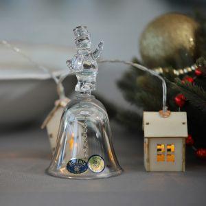 "Clopotel cristal Bohemia ""Om de zapada"" 11.4 cm"