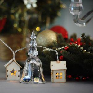 "Figurina clopotel cristal Bohemia ""Bradut"" 12 cm"