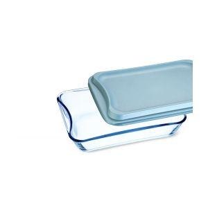 Vas sticla termorezistenta rectangular cu capac plastic 3.5 l